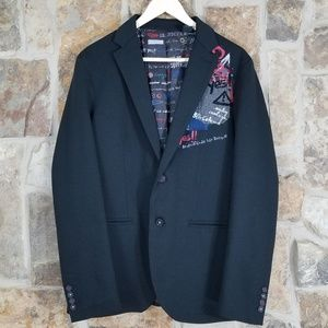 Desigual 50 Mens Blazer Jacket Suit Coat